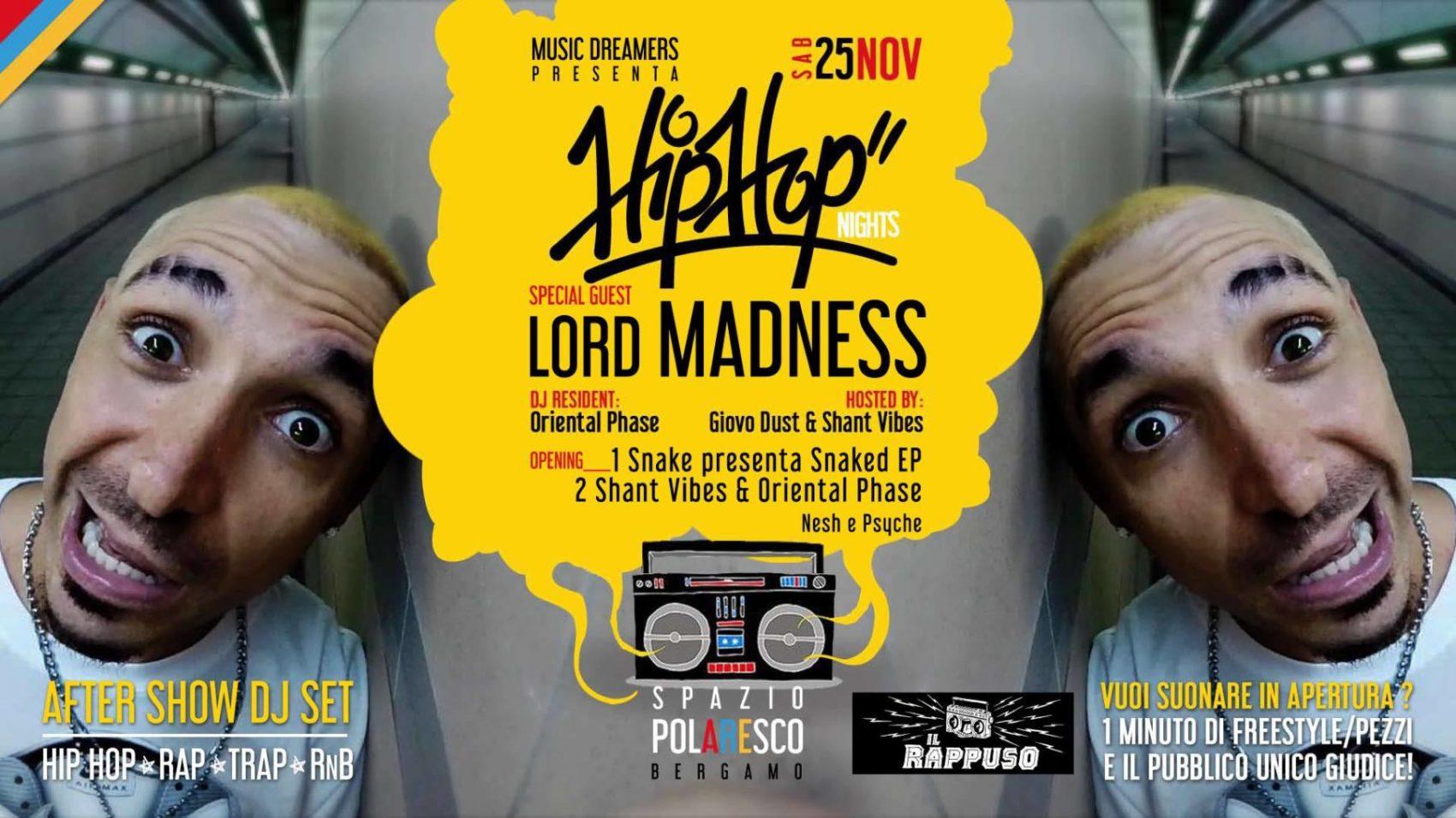Photo of Il Rappuso in collaborazione con Music Dreamers presenta Lord Madness a Bergamo