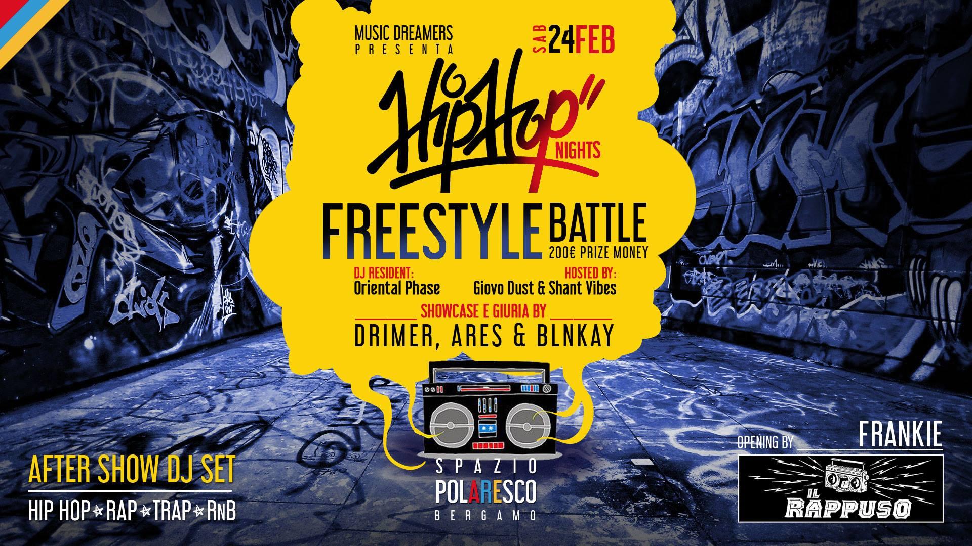 Photo of Rap Freestyle Battle 24/02 by Music Dreamers: premio 200 Euro con giuria Drimer, Ares e Blnkay