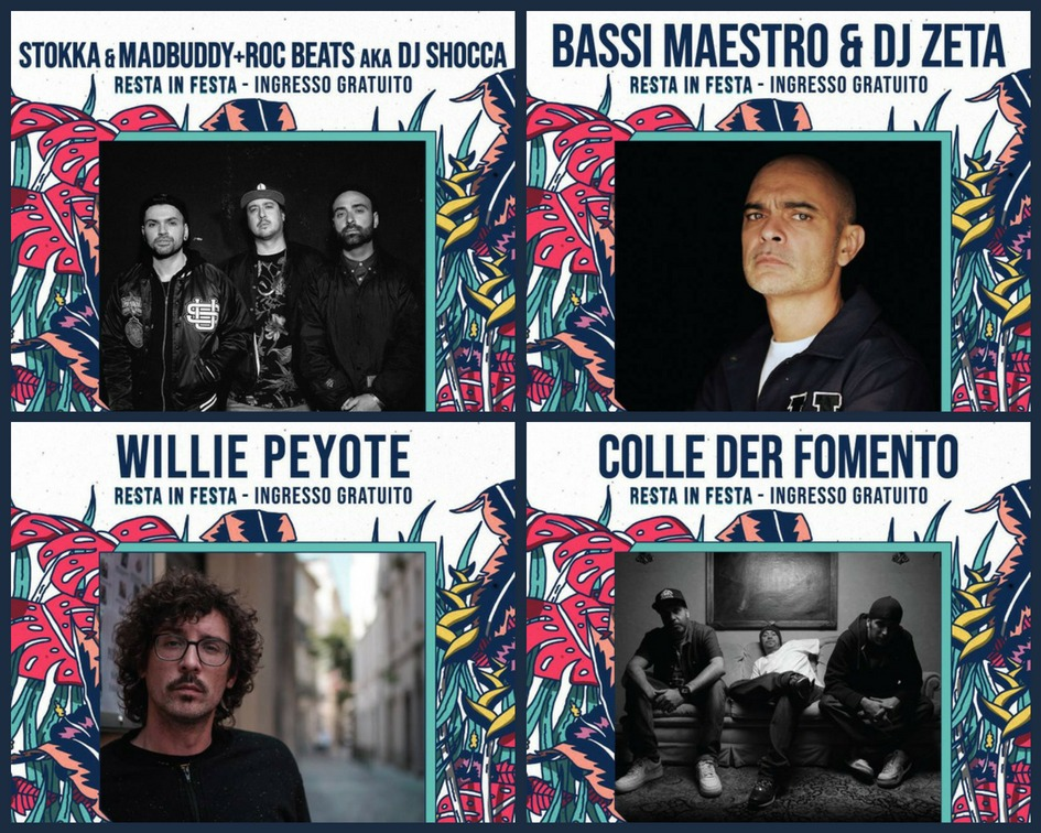 Photo of Willie Peyote, Bassi Maestro,Colle Der Fomento e Stokka&MadBuddy con DJ Shocca LIVE!