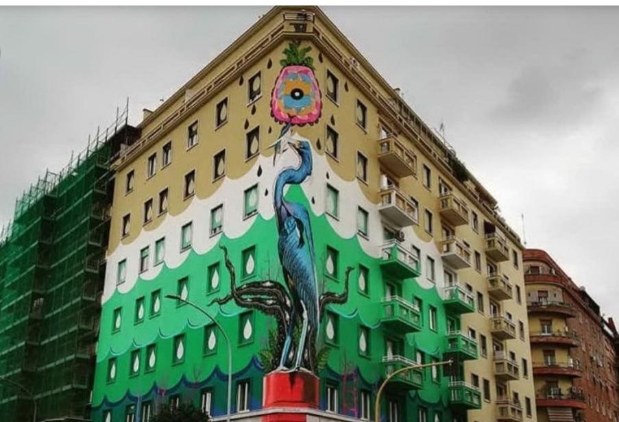 """Photo of A Roma il murales """"mangia smog"""" più grande d'Europa"""